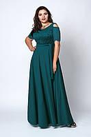 Нарядное длинное платье бутылочное, фото 1