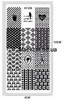 Пластина для стемпинга металлическая 12Х6 см XY-Z09