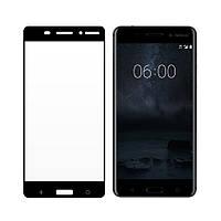 Закаленное защитное 5D стекло ПОЛНАЯ ПРОКЛЕЙКА (на весь экран) для Nokia 6 (2018) (выбор цвета)