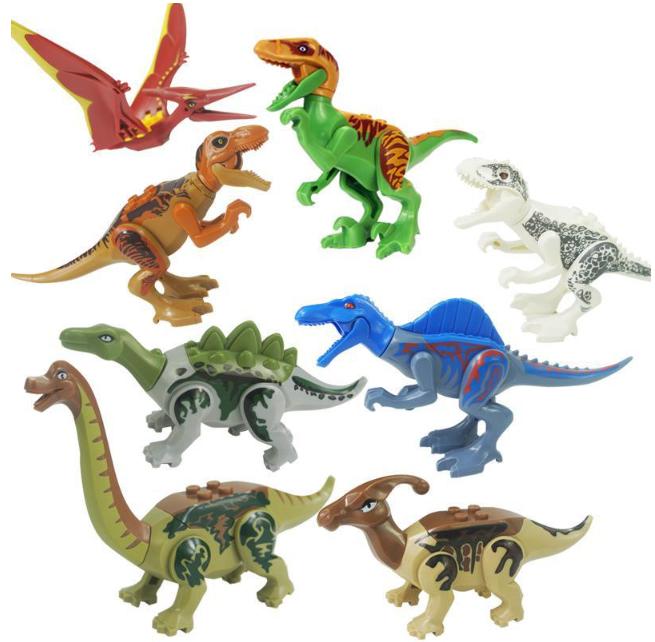 Набор Динозавры Лего 8 штук. Конструктор Набор № 3.
