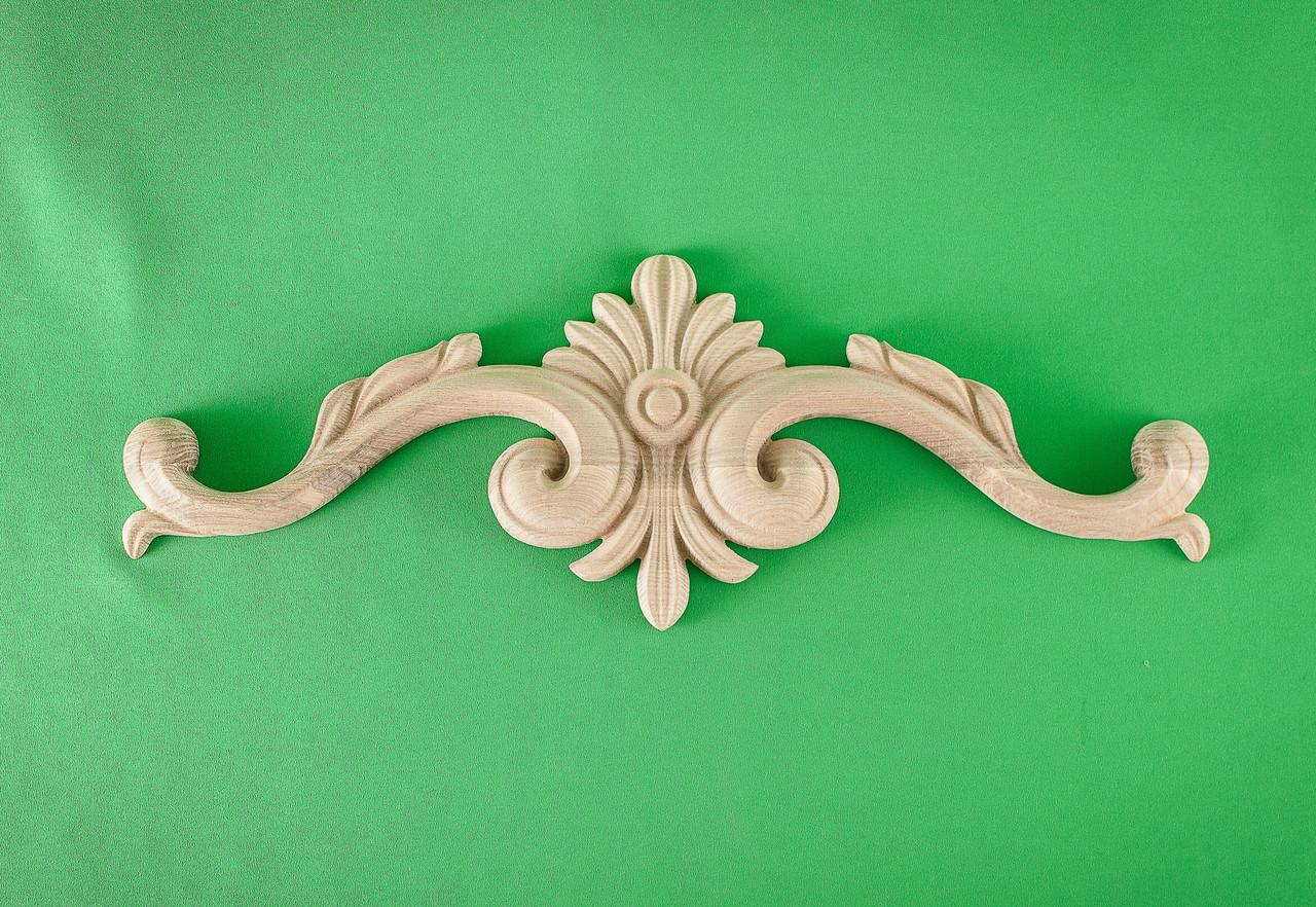 Код ДГ9.Деревянный резной декор для мебели. Декор горизонтальный