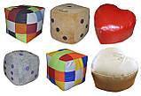 Бескаркасное кресло мяч футбол пуф мешок мягкий для детей, фото 8