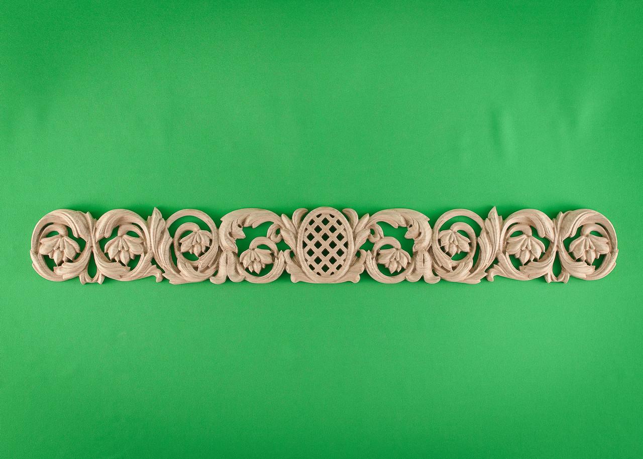 Код ДГ11.Деревянный резной декор для мебели. Декор горизонтальный