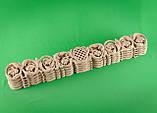 Код ДГ11.Деревянный резной декор для мебели. Декор горизонтальный, фото 3