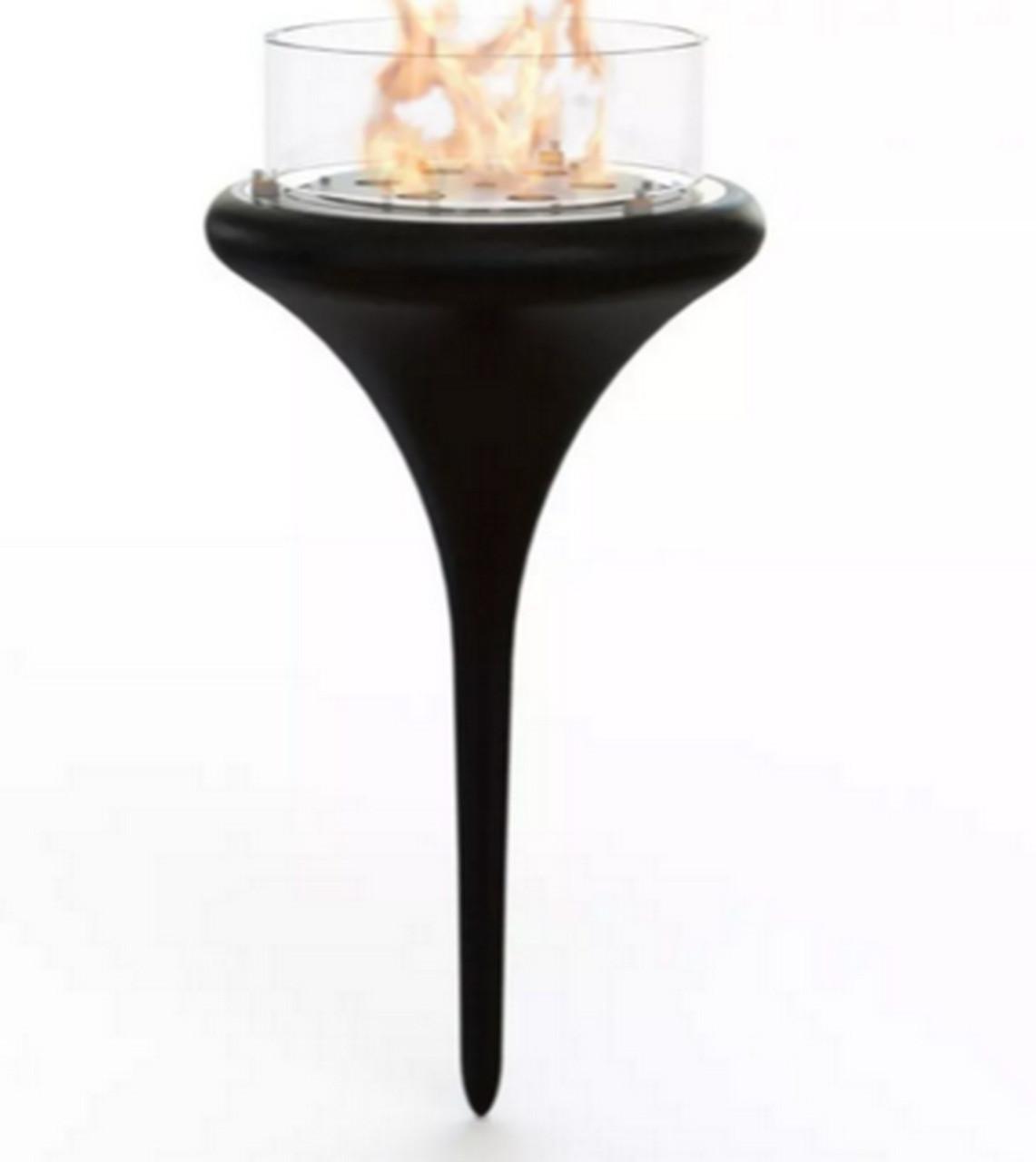 Биокамин Glamm Fire Flut white/black/red