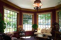 Глухое прямоугольное деревянное окно