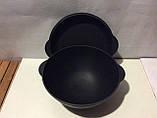 Порційний чавунний казанок 700мл з кришкою сковорідкою, фото 2