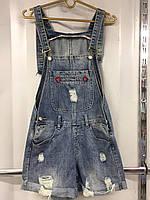 Джинсовый комбинезон женский шортами с потёртостями s.m.l.xl Хороший фабричный Китай Качество отличное