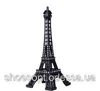 Ейфелева вежа декоративна зі стразами чорна 13см, фото 1