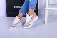Женские  кроссовки  белые S фиолетовая  пятка, фото 1