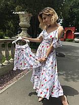Одинаковые платья мама и дочка софт, фото 2