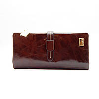 Кожаный женский кошелек коричневого цвета JCCS FFS-3300892