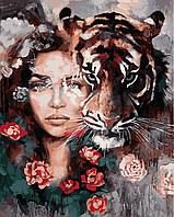 """Раскраска Антистресс для взрослых и детей """"Глаза тигра"""", 40 х 50 см , С Коробкой"""
