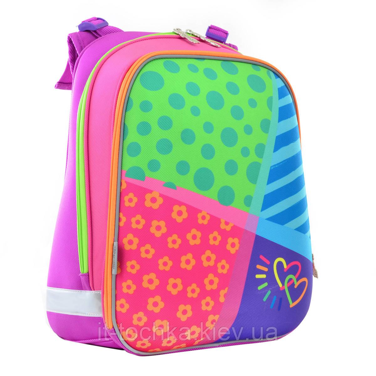 Рюкзак школьный каркасный 1 Вересня h-12 bright colors, 38*29*15
