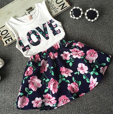 Комплект майка+ юбка на девочку