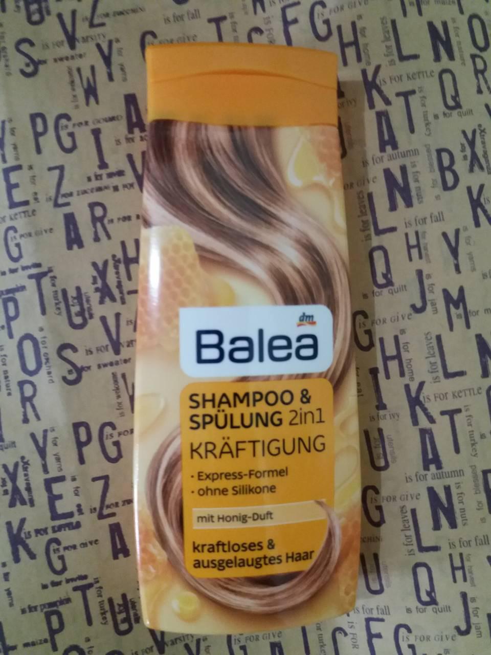 Шампунь Balea 2in1 Kräftigung Shampoo + Spülung