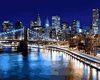 """Раскраска Антистресс для взрослых и детей """"Огни Нью-Йорка"""", 40 х 50 см , С Коробкой"""