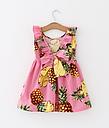 Детское платье летнее  розовое с ананасами, фото 2