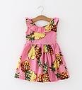 Детское платье летнее  розовое с ананасами, фото 3