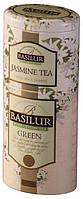 Зеленый чай Basilur + жасмин жб 125 г Цветы и Фрукты Цейлона