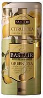 Зеленый чай Basilur + цитрус жб 125 г Цветы и Фрукты Цейлона