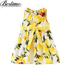 Детское платье летнее с лимонами