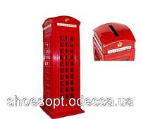 Телефонная будка Лондон Монетница декоративная металл 17см