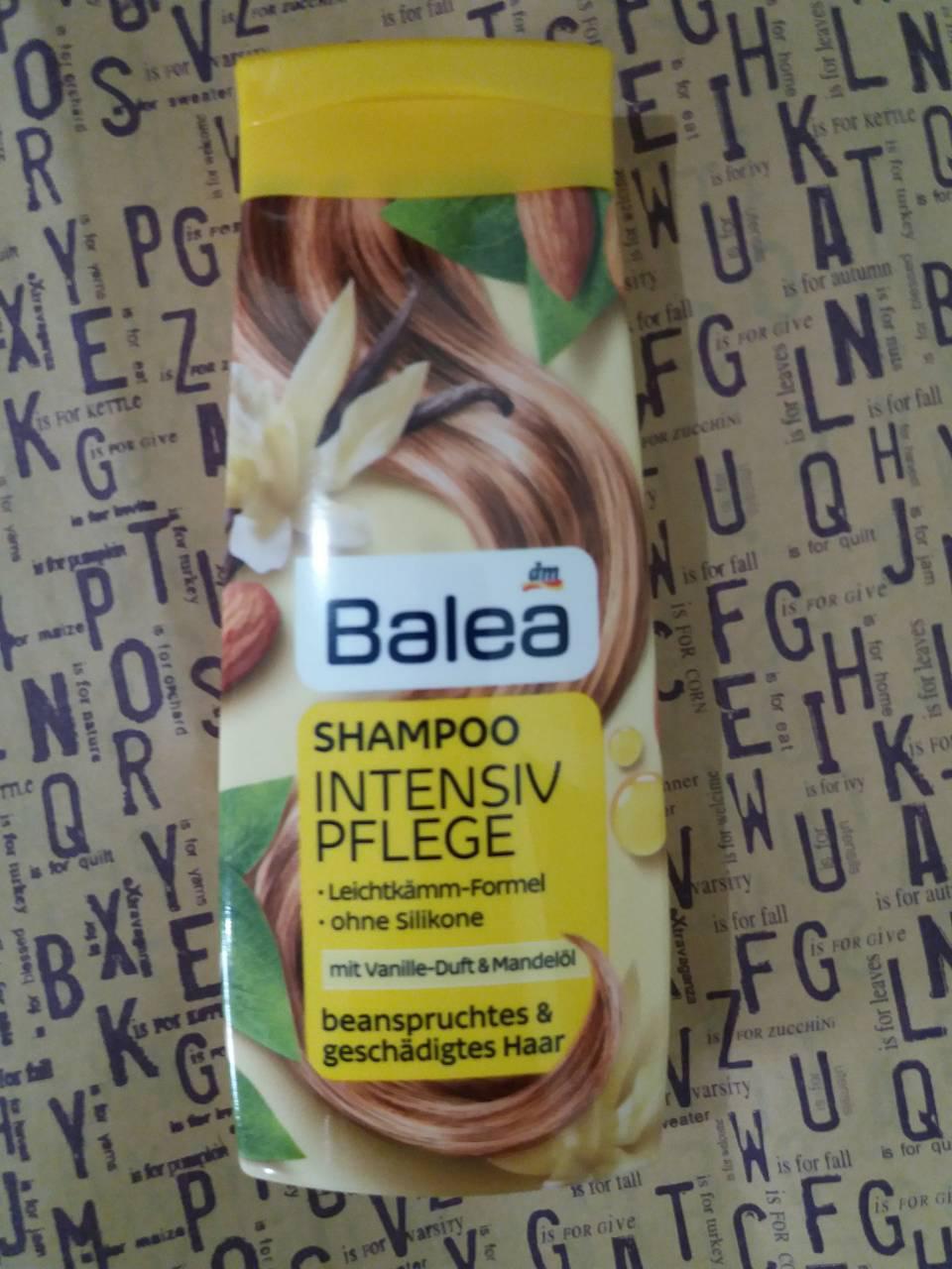 Balea Intensiv Pflege – шампунь для поврежденных волос, 300 мл.