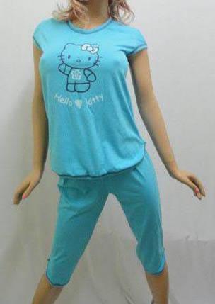 """Пижама женская футболка с бриджами """"Kitty"""", от 44 до 50 р-ра, Харьков, фото 2"""