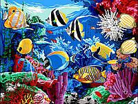 """Раскраска Антистресс для взрослых и детей """"Коралловый риф"""", 30 х 40 см , С Коробкой"""