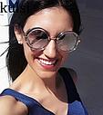 Очки женские круглые серый градиент, фото 3