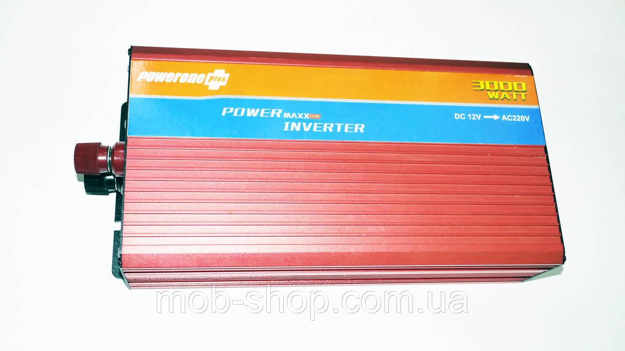 Инвертор Power Inverter Powerone 3000W 12V в 220V с функцией плавного пуска