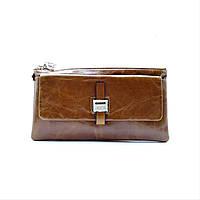 Кожаный женский кошелек JCCS коричневого цвета IIC-302505, фото 1