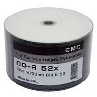 CMC Magnetics CD-R 700 MB 52x, Full-face inkjet printable Silver, Bulk / 50
