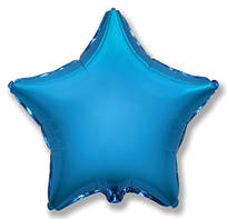 """Фольгований куля """"Зірка"""" синя 45 см, Flexmetal Іспанія"""