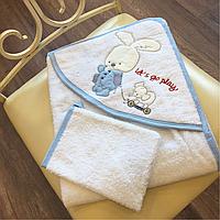Полотенце для купания с рукавичкой 100% хлопок