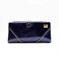 Практичный кожаный кошелек JCCS синего цвета BUR-099483, фото 1