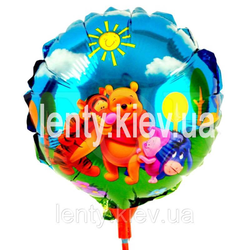 """Міні кульку на паличці з фольги """"Вінні Пух і друзі"""""""