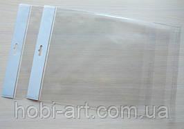Пакетики 14х17см з єврослотом та клеючою смужкою