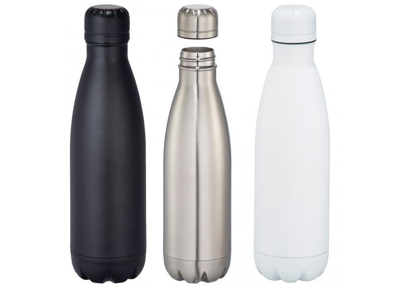 Металический термос бутылка N-3 (черный, серебро) 500мл