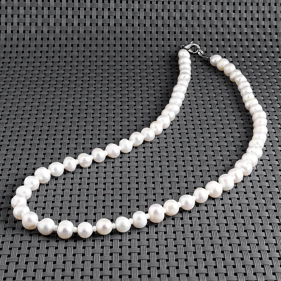 Жемчуг белый, Ø6-7 мм., 45 см., бусы, 454БСЖ