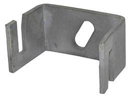 Скоба-тримач смуги 40х4мм з болтом М8х20, сталь оцинкована