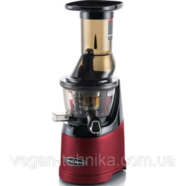 Шнековая соковыжималка Omega MMV-702 Juicer MegaMouth Red