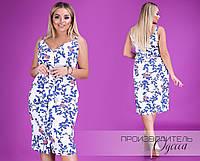 bff47b55c295 Льняное платье на бретельках большой размер Прямой поставщик официальный  сайт Украина Россия СНГ р.48