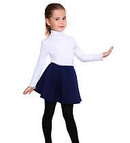 Детская юбка встречная складка темно-синяя р.116-134