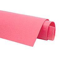 Фетр Кораллово-розовый Жесткий Корейский 1.2 мм 22x30 см