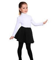 Детская юбка встречная складка черная р.116-134