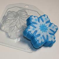 Пластиковая форма Снежинка №3