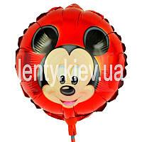 """Мини шарик на палочке из фольги """"Микки Маус"""""""