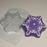 Пластиковая форма снежинка №5